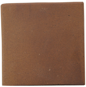"Flame Brown 150x150x12mm (6x6"") Double Round Edge Quarry Tile"