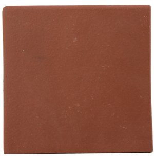 "Flame Red 150x150x12mm (6x6"") Double Round Edge Quarry Tile"