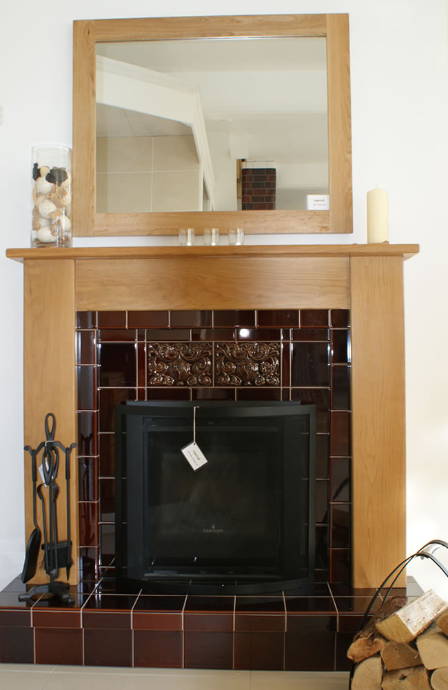 Tile Fireplace Surround