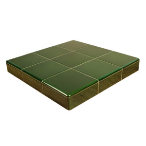 Victorian Green Ceramic Tile