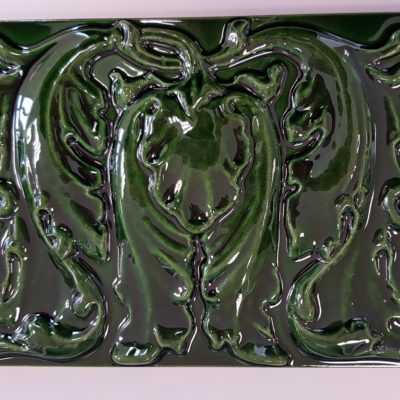 Victorian Green Floral Panel