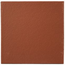 Flame Red 150 x 150 x 12mm (6×6″) Plain Quarry Tile