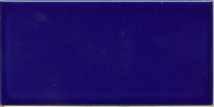 "Victorian Blue 152x76x9mm (6x3"") Plain Tile"