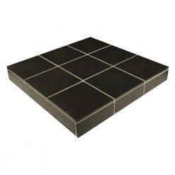 Black Unglazed Porcelain Field Tile
