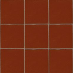 Mesh Mounted Brick Red Tiles