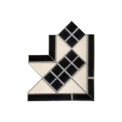 Octagon Black And White Dots Lisbon Corner Firetile Ltd