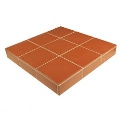 Red Field Tile Hearth