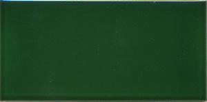 Victorian Green Ceramic Fireplace Tile 6x3