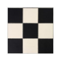 Black and White Diagonal Chequers Panel Type-B