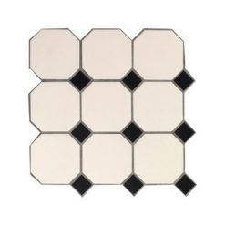 Octagon Black and White Dots Panel