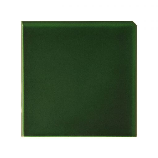Victorian Green Double Round Edge Corner Tile
