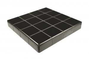 Black Ceramic Fireplace Tile