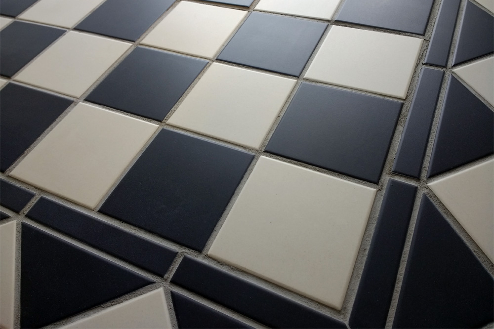 Black and White Chequerboard Tiles
