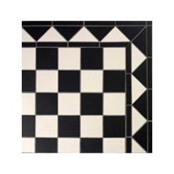 Mesh Mounted Black and White Chequerboard Tile Panels