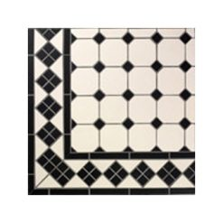 Mesh Mounted Octagon Floor Tile Panels