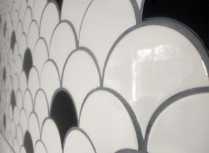 Black and White Tiles in the FireTile Showroom