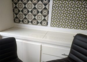 Calais Tiles in the FireTile Showroom
