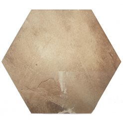 Dark Beige Hexagon Tiles