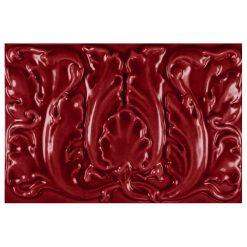 """Burgundy Floral 9""""x6"""" Tile"""