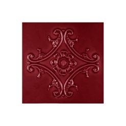 """Burgundy Medallion 6""""x6"""" Tile"""