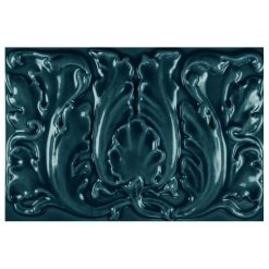 """Midnight Floral 9""""x6"""" Tile"""