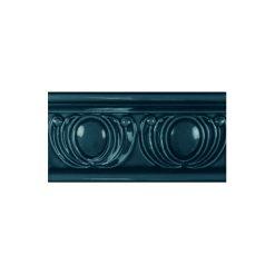 "Midnight Royal Garland Dado 6""x3"" Victorian Wall Tile"