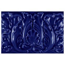 """Victorian Blue Floral 9""""x6"""" Tile"""