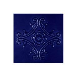 "Victorian Blue Medallion 6""x6"" Tile"