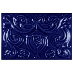 "Victorian Blue Pomegranate 9""x6"" Panel"