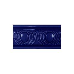 "Victorian Blue Royal Garland Dado 6""x3"" Wall Tile"