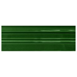 "Victorian Green Fluted Skirt 9""x3"" Panel"