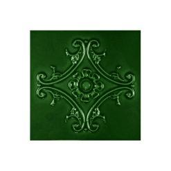 "Victorian Green Medallion 6""x6"" Tile"