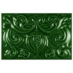 "Victorian Green Pomegranate 9""x6"" Panel"
